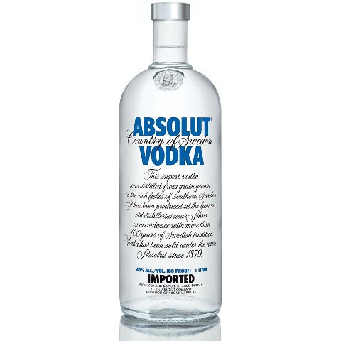 Vodka Absolut Natural 1000ml