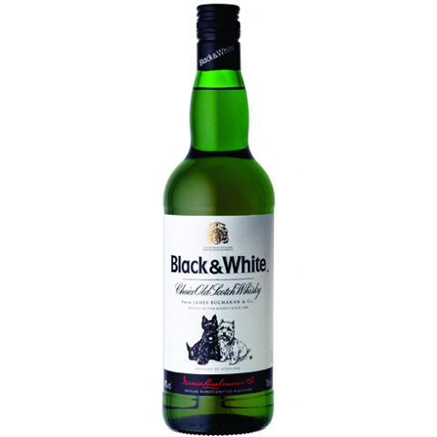 Whisky Scotch Black & White 1000ml